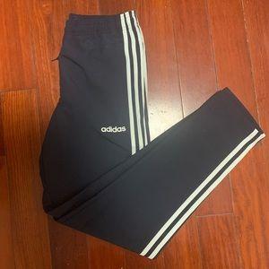navy adidas track pants